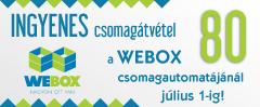 INGYENES csomag�tv�tel a Webox 50 csomagautomat�j�n�l november 7-ig!
