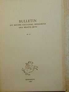 A. E. Popham - Bulletin du Musée Hongrois des Beaux-Arts 19. [antikvár]