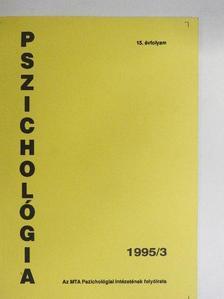 Bakon Ildikó - Pszichológia 1995/3. [antikvár]