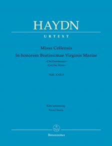 "HAYDN J. - MISSA CELLENSIS IN HONOREM BEATISSIMAE VIRGINIS MARIAE (""CAECILIENMESSE"") HOB. XXII:5 URTEXT KLAUSZ."