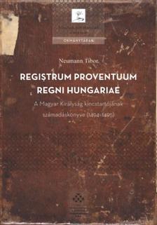 Neumann Tibor - Registrum Proventuum Regni Hungariae - A Magyar Királyság kincstartójának számadáskönyve (1494-1495)