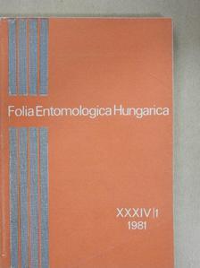 Endrődi S. - Folia Entomologica Hungarica 1/1981. [antikvár]