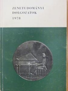 Borsai Ilona - Zenetudományi dolgozatok 1978 [antikvár]