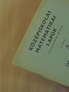 Gaál István - Középiskolai matematikai lapok 1968/10. [antikvár]