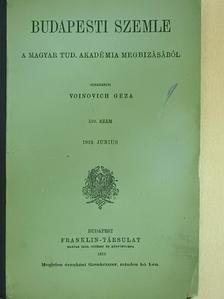 Beöthy Zsolt - Budapesti Szemle 1919. junius [antikvár]