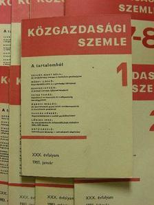 Bartke István - Közgazdasági Szemle 1983. (nem teljes évfolyam) [antikvár]
