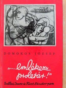 """Domokos József - """"... emlékezz, proletár!"""" [antikvár]"""