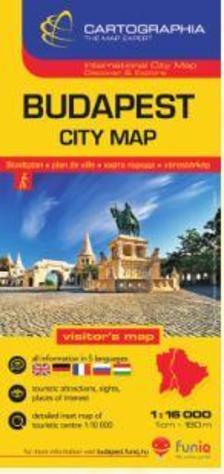 Cartographia - Budapest belváros térkép 1:16 000
