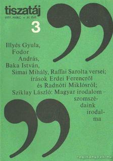 Vörös László - Tiszatáj 1977. március 31. évf. 3. [antikvár]