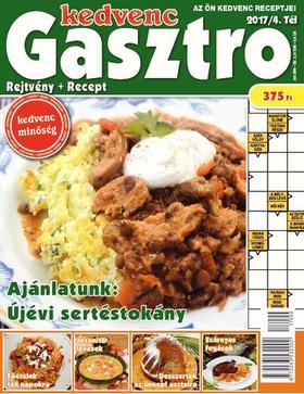 CSOSCH KIADÓ - Kedvenc Gasztro rejtvénylap 2017/4