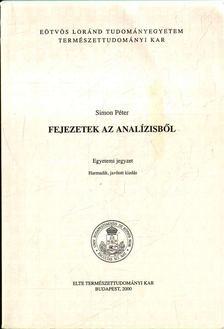 Simon Péter - Fejezetek az analízisből [antikvár]