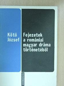 Kötő József - Fejezetek a romániai magyar dráma történetéből [antikvár]