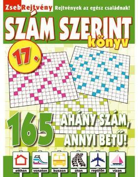 CSOSCH KIADÓ - ZsebRejtvény SZÁM SZERINT Könyv 17.