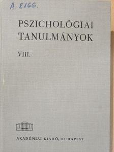 Dr. Csirszka János - Pszichológiai tanulmányok VIII. [antikvár]