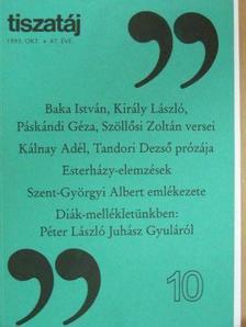 Árpás Károly - Tiszatáj 1993. október [antikvár]