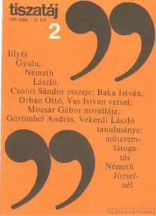 Vörös László - Tiszatáj 1979. február 33. évf. 2. [antikvár]