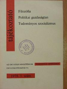 Dolmányos István - Tájékoztató 1978/1. [antikvár]
