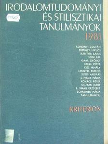 Cseke Péter - Irodalomtudományi és stilisztikai tanulmányok 1981. [antikvár]