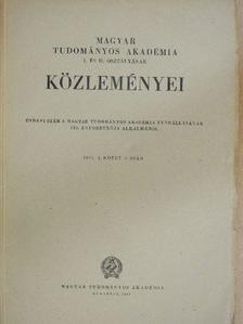Bárczi Géza - Magyar Tudományos Akadémia I. és II. Osztályának közleményei [antikvár]