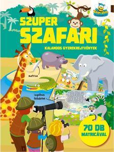 Szalay Könyvkiadó - Szuper szafari - kalandos gyerekrejtvények 70 db matricával