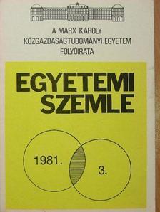 Borbély Szilvia - Egyetemi Szemle 1981/3. [antikvár]