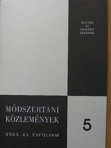Balogh Terézia - Módszertani közlemények 2003/5. [antikvár]