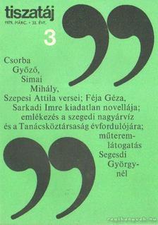 Vörös László - Tiszatáj 1979. március 33. évf. 3. [antikvár]