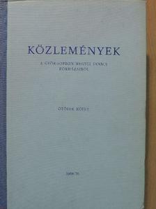 Alexy Miklós - Közlemények a Győr-Sopron megyei tanács kórházaiból V. [antikvár]