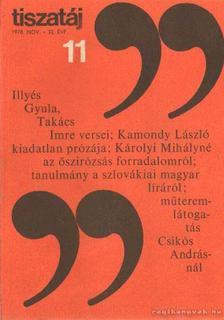 Vörös László - Tiszatáj 1978. november 32. évf. 11. [antikvár]