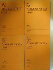 Imre Samu - Magyar Nyelv 1981/1-4. [antikvár]