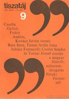 Vörös László - Tiszatáj 1978. szeptember 32. évf. 9. [antikvár]