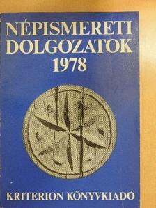 Csergő Bálint - Népismereti dolgozatok 1978 [antikvár]