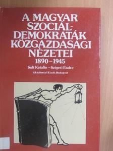 Solt Katalin - A magyar szociáldemokraták közgazdasági nézetei [antikvár]