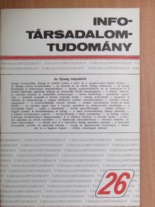 Csepeli György - Info-Társadalomtudomány 1993. október [antikvár]