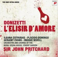 DONIZETTI - L`ELISIR D`AMORE 2CD PRITCHARD, COTRUBAS, DOMINGO, EVANS, WIXELL