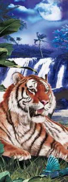 3D Könyvjelzők - Tigris