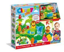 Clemmy Plus Puha, bébi építőjáték szett hangeffektussal - Őserdő Móka készlet