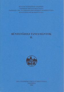 Kahler Frigyes - Büntetőjogi tanulmányok II. [antikvár]