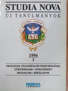 Biernaczky Szilárd - Studia Nova 1994/1 [antikvár]