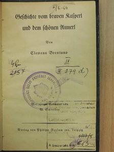 Clemens Brentano - Geschichte vom braven Kasperl und dem schönen Annerl (gótbetűs) [antikvár]
