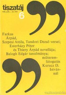 Vörös László - Tiszatáj 1978. június 32. évf. 6. [antikvár]