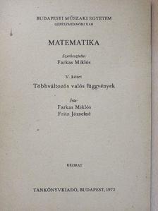 Farkas Miklós - Matematika V. [antikvár]