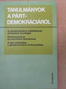 Andics Jenő - Tanulmányok a pártdemokráciáról [antikvár]