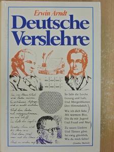 Erwin Arndt - Deutsche Verslehre [antikvár]