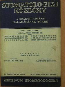 Balogh Károly - Stomatologiai Közlöny 1938. december [antikvár]