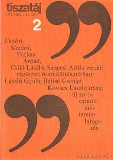 Vörös László - Tiszatáj 1978. február 32. évf. 2. [antikvár]