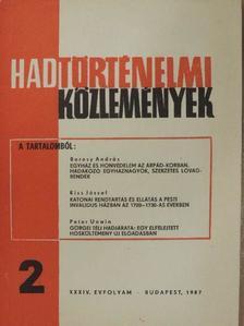 Bencze Zoltán - Hadtörténelmi Közlemények 1987/2. [antikvár]