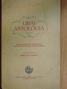 B. Palotai Boris - Lirai antológia [antikvár]