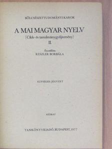 Balassa László - A mai magyar nyelv II. [antikvár]
