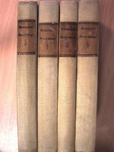 Guzmics Izidor - Budapesti árvizkönyv II-V. (nem teljes sorozat) [antikvár]